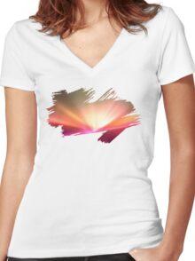 Brush Brightness Women's Fitted V-Neck T-Shirt