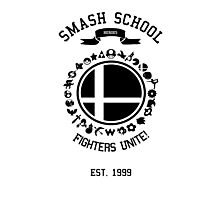 Smash School United (Black) Photographic Print
