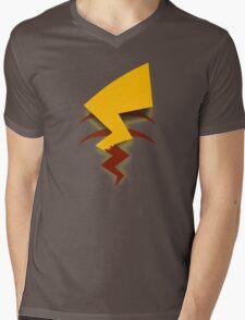 Pikachu Tail Mens V-Neck T-Shirt