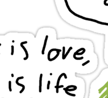 It's Never Ogre  Sticker