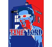 Police Public Call Box Time Lords Obama Hope Style Photographic Print
