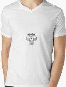 QBert Stencil Mens V-Neck T-Shirt