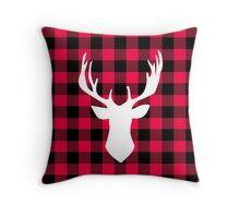 Buffalo Plaid Deer Throw Pillow