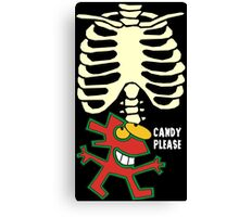 Halloween Candy Please Canvas Print