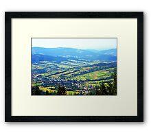 photo highland Framed Print