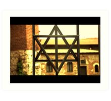 judish cross poland synagogue Art Print