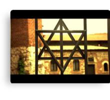 judish cross poland synagogue Canvas Print