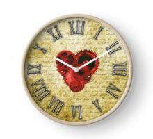 Vintage Steampunk Clock No.5, Vintage Steampunk Clockwork Heart Clock