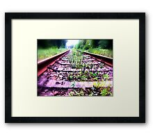 rail cologne germany Framed Print