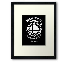 Smash School Newcomer (White) Framed Print