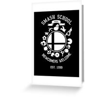 Smash School Newcomer (White) Greeting Card
