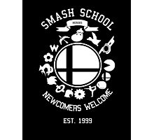 Smash School Newcomer (White) Photographic Print