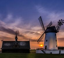 Lytham Windmill at Sunset by David Bradbury