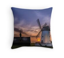 Lytham Windmill at Sunset Throw Pillow