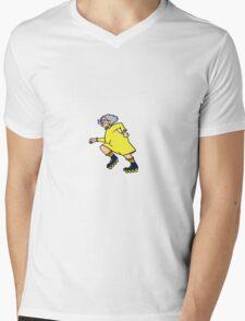 Roller Skating Granny Mens V-Neck T-Shirt