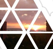 warren sunset 2 Sticker