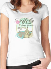 Alola League Champion - Mimikyu Women's Fitted Scoop T-Shirt