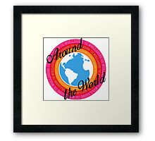 Around The World (Light Background) Framed Print