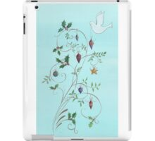 Christmas dove, swirls and ornaments iPad Case/Skin