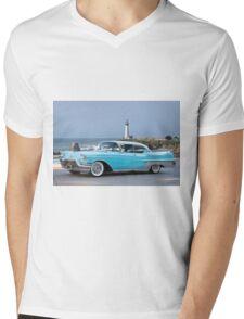 1957 Cadillac Fleetwood 60-S Sedan Mens V-Neck T-Shirt