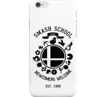 Smash School Newcomer (Black) iPhone Case/Skin