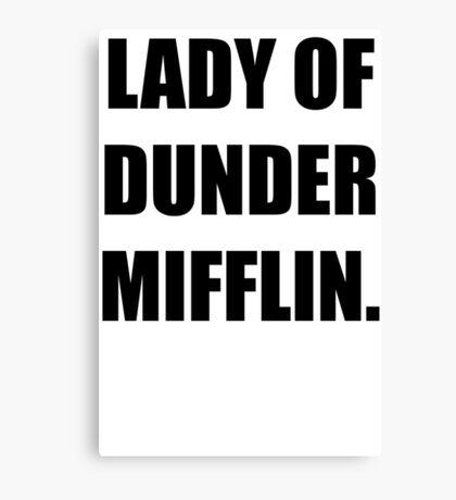 Lady of Dunder Mifflin Canvas Print