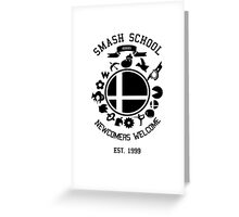 Smash School Newcomer (Black) Greeting Card