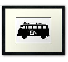 Hawaiian vw bus Framed Print