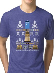 Doctor Ugly Sweater Who Tri-blend T-Shirt