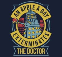 An Apple A Day Exterminates The Doctor Kids Tee