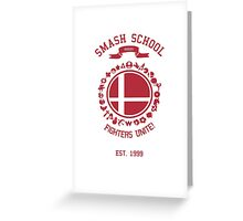 Smash School United (Red) Greeting Card