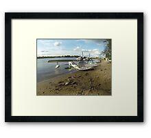 Parking seaplane Framed Print