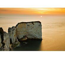 Sunrise at Old Harry Rocks Photographic Print