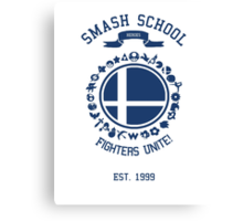 Smash School United (Blue) Canvas Print