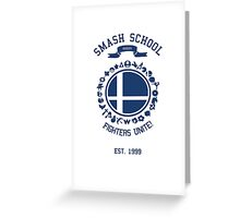 Smash School United (Blue) Greeting Card