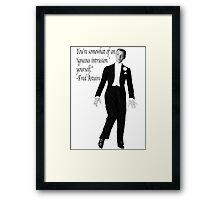 Fred Astaire- Igneous Intrusion Framed Print