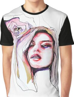 Portrait with gold and red Graphic T-Shirt