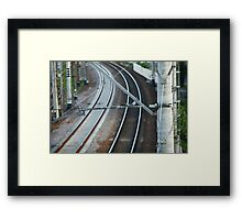 catenary of electrified railway Framed Print
