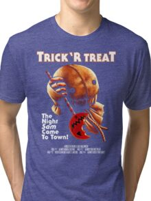 Trick 'r Treat Halloween Mashup T-Shirt Tri-blend T-Shirt