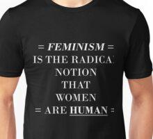 feminism (white) Unisex T-Shirt