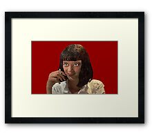 Mia Wallace - Pulp fiction Framed Print