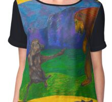 What is the Lion King afraid of?  Chiffon Top