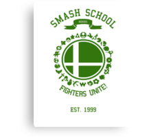 Smash School United (Green) Canvas Print