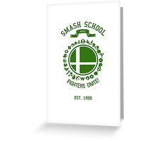 Smash School United (Green) Greeting Card