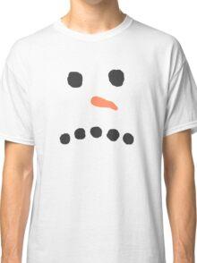 Sad Unhappy Snowman Face Bah Humbug Classic T-Shirt