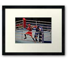 Boxing direct blow to the head Framed Print