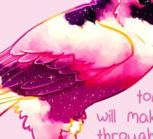 """You Will Make It Through"" Night Sky Owl Sticker"