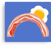 Bacon and Eggs Rainbow Canvas Print