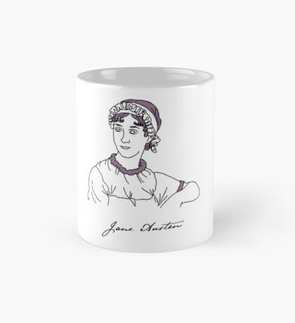Minimalist Jane Austen Mug
