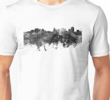 Salt Lake City skyline in black watercolor Unisex T-Shirt